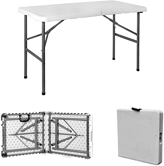 Mesa plegable, portátil y resistente 1, 20 cm/ 1, 80 cm.: Amazon ...
