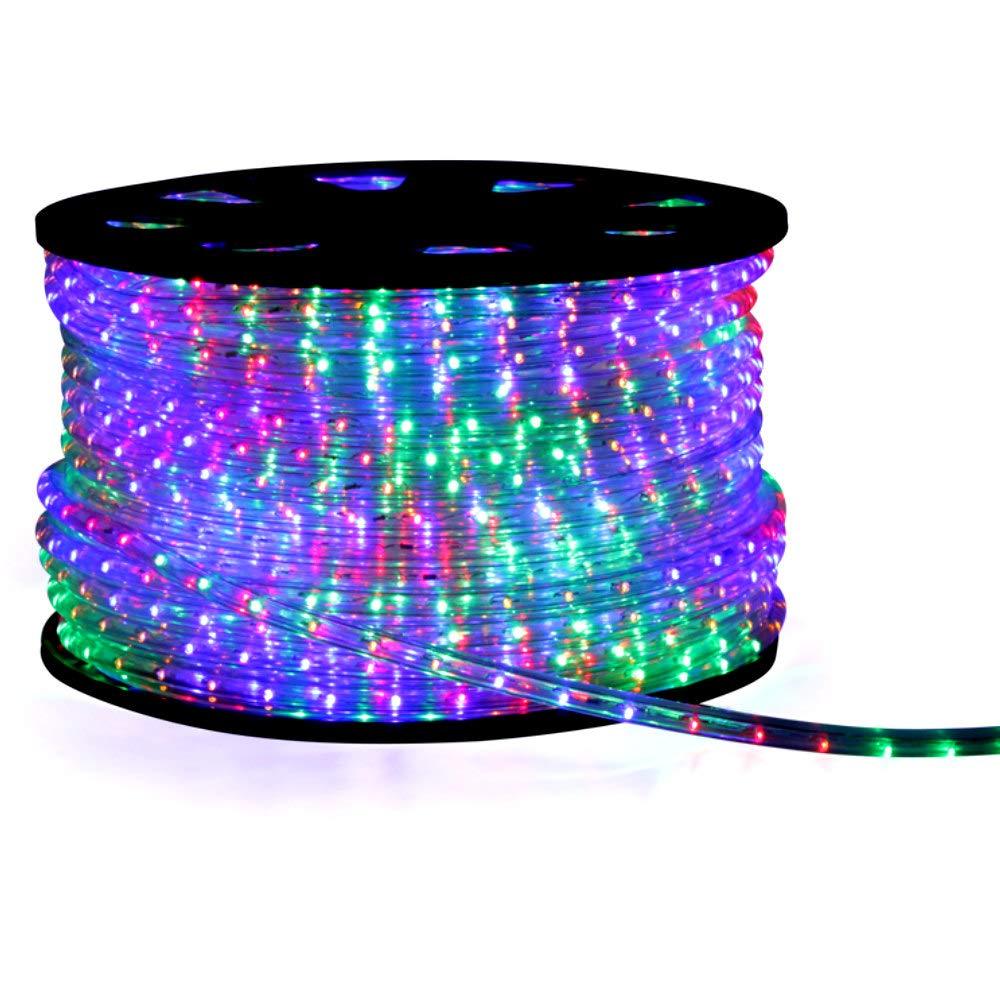 Bunt   Multi 14 meter LED Lichterschlauch bunt multi Schlauch Lichtschlauch 14m Partybeleuchtung mit Blinkfunktion, inkl. Netzstecker inkl. Zuleitung