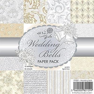 Wild Rose Studio Paper Pack, 6 by 6-Inch, Wedding Bells