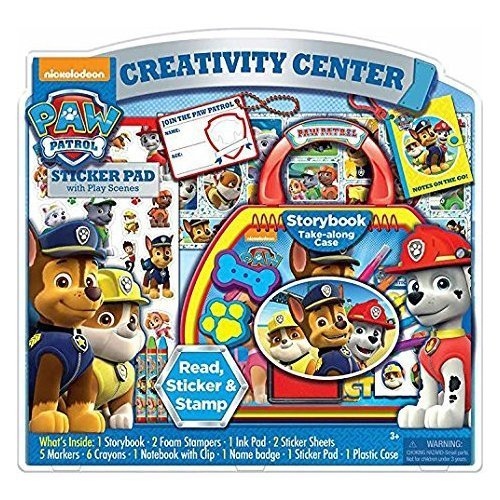 (Nickelodeon Paw Patrol Creativity Activity Center Storybook, Stickers, Stamps, Crayons,)