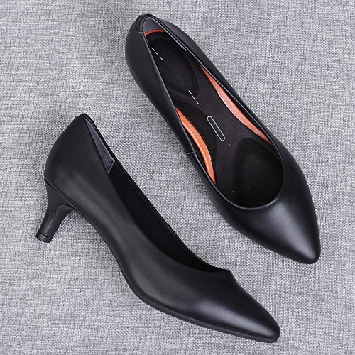 HH High Heels Shoes Western Black White Shoes w0TUqw