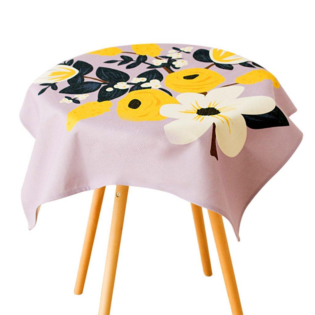 CHENGYI rosa Tovaglia modello Fiore Moderno semplice Moda Upscale Soggiorno Cucina Ristorante Hotel 85  85cm (Questo prodotto solo vende tovaglie)