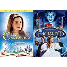 Disney's Enchanted & Ella Enchanted DVD Set Classic Family Fantasy Movie Bundle Double Feature
