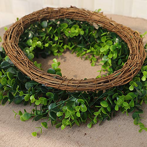 Karooch-DIY-Simulation-Artificial-Wreath-Wall-Mounted-Ornament-Rose-Eucalyptus-Leaves-Green-Plant-Burlap-Garland-Window-Door-Hanging-Decor-for-Wedding-Ceremony-Party-Home-Garden-Green-Plant