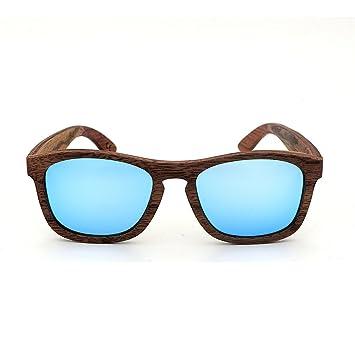 fa40d663b2 Aihifly Gafas de Sol polarizadas Classic Simple Style Handcraft Wood Rimmed  Sunglasses Lente de Color Protección UV400 para Unisex-Adulto Nuevas Gafas  de ...