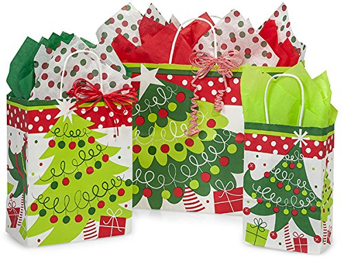 NWAMR-JCTA Jolly Christmas Trees 125 Bag Assortment, 50 Rose, 50 Cub & 25 Vogue Bags