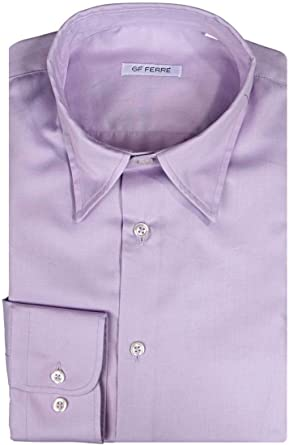 Gianfranco Ferre GF Camisa SLIM, Color: Lila, Tamaño: 43 ...