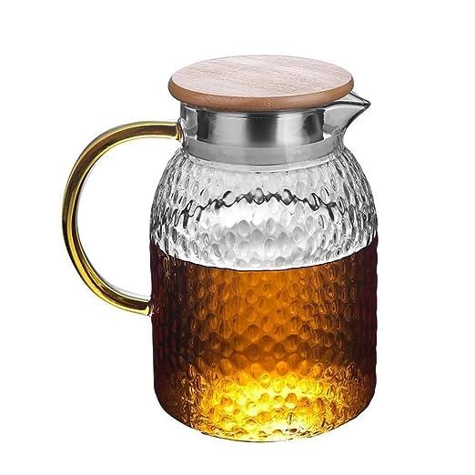 BB&ONE tapa de jarra de cristal, reutilizable, perfecta para té ...