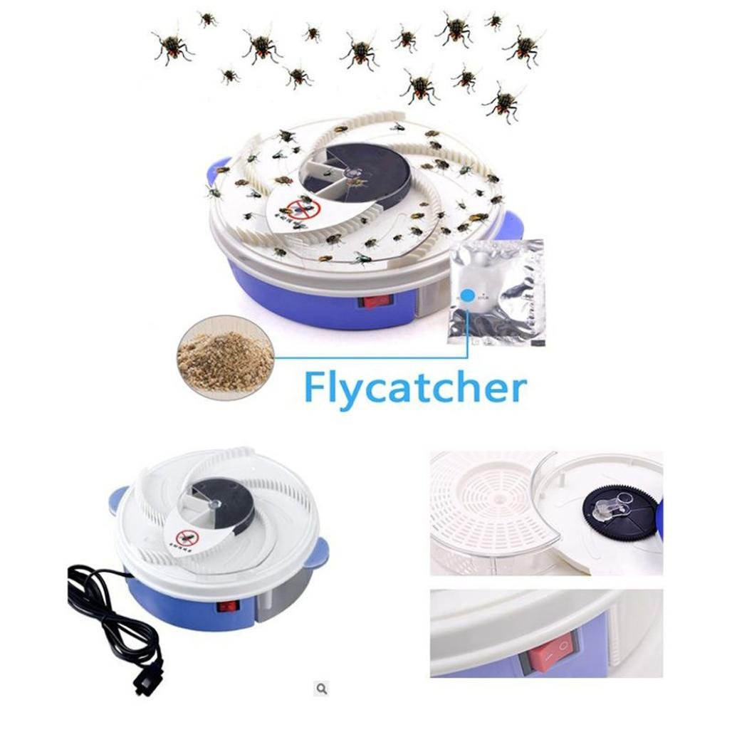 Hechun Electric Fly Insect Trap Indoor Bug Fly Device with Trapping Food Mosquito Killer Pest Control Pest Catcher (White) by Hechun (Image #5)