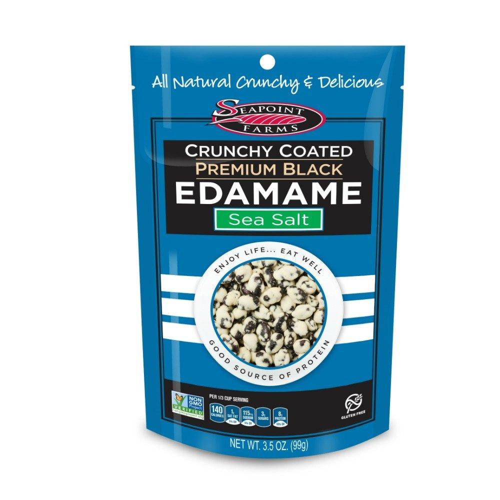 SeaPoint Farms - Edamame Crunchy Coated Premium Black Sea Salt - 3.5 oz. (Pack of 12)