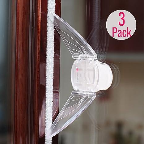 EUDEMON plástico bebé seguridad 3 unidades tapón de la puerta ...