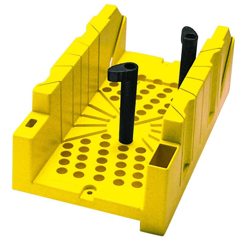Stanley Gehrungslade Kunststoff (inklusive Rückensäge, Haltennocken-System, 90°/45°/22.5° Winkel einstellbar) 1-20-600 BLAMT