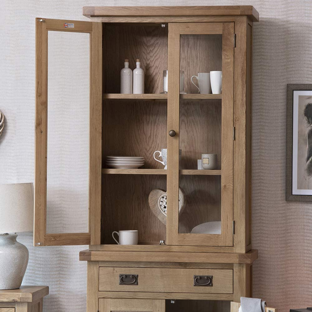 The Furniture Outlet Colchester Chunky Oak Small Dresser Top