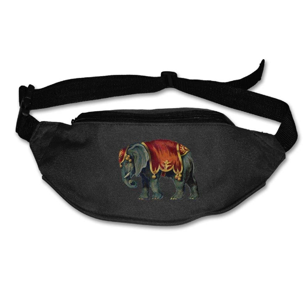 Waist Purse Colorful Lovely Elephant Unisex Outdoor Sports Pouch Fitness Runners Waist Bags