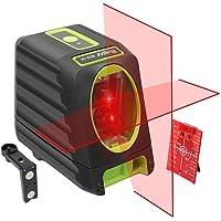 Huepar BOX-1R Niveau Laser Croix Rouge, Auto-nivellement Commutable Laser Lignes avec Fonction d'impulsion, H130°/ V150° Angle de couverture, Distance de Travail 20m, Support Magnétique Incluse