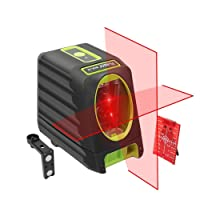 Niveau laser autonivelant Huepar Box-1R 98ft / 30m Niveau laser rouge avec faisceau vertical de 150 °, lignes laser sélectionnables Couverture de la base magnétique 360 ° incluse (pas de trépied)