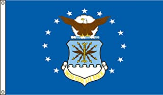 product image for Valley Forge Flag 2-Foot by 3-Foot Nylon Air Force Flag with Canvas Header and Grommets