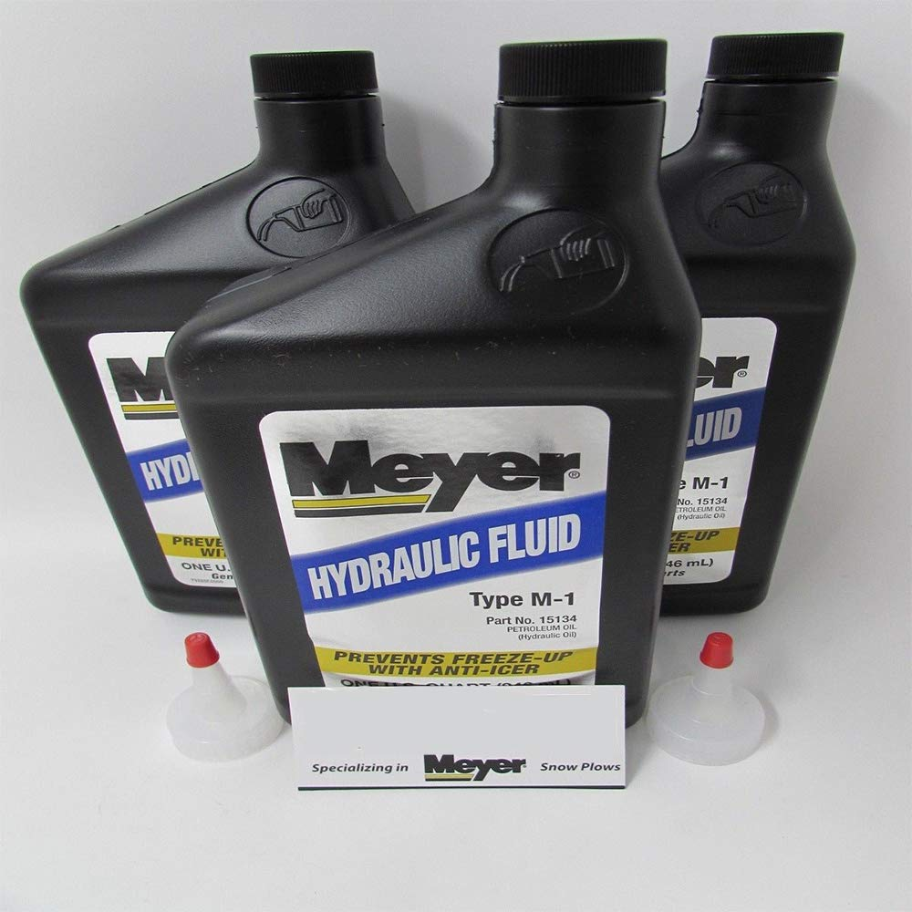 Meyer 3 Pack Genuine OEM Hydraulic Fluid 15487 15134