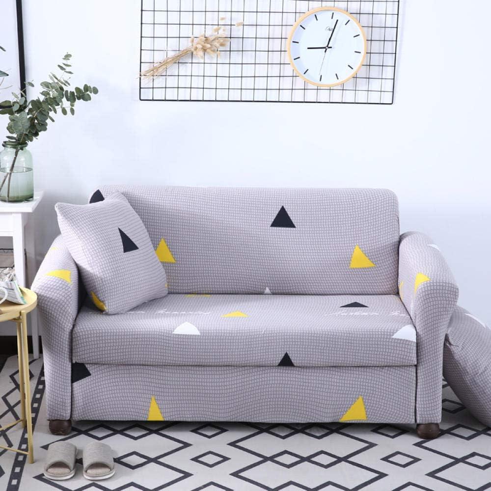 Awzzrs Comficent Funda Cubre Sofá Chaise Longue, Estilo nórdico Funda Sofá Universal Estiramiento, Protector Antideslizante Elastic Soft Sofa Couch Cover-4 asientos/235-300cm