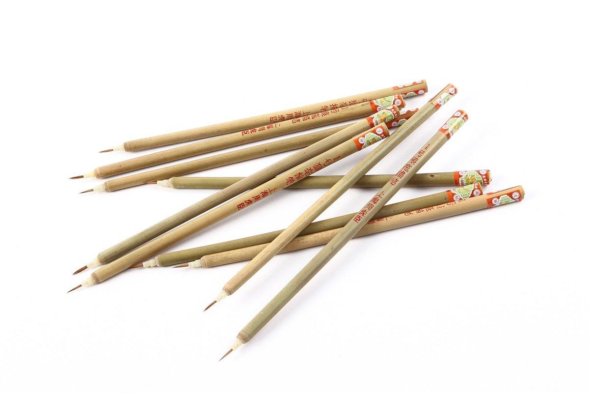 N. 1lupo capelli le sumie Pennelli, Confezione da 10 Wangyipin