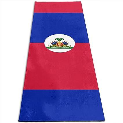 Amazon.com: Haiti Flag Printed Yoga Mat Prana Yoga Mat ...