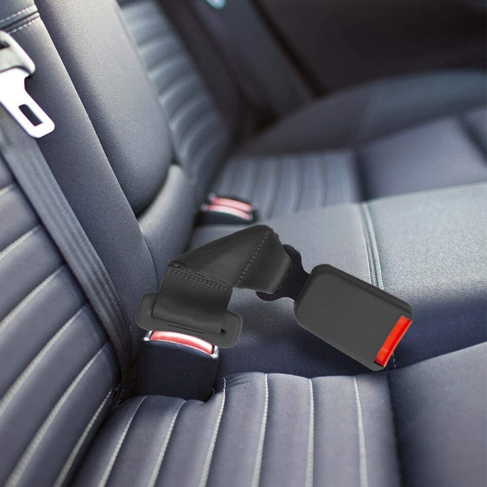 7//8 Inch Type A Metal Tongue Width Seat Belt Extender Pros E4 Certified Regular 7 Inch Seat Belt Extender 2-Pack Black Buckle up and Ride Satisfied