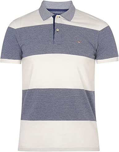 Gant Bar La Raya Oxford Piqué Camisa De Los Hombres Polo, Azul ...