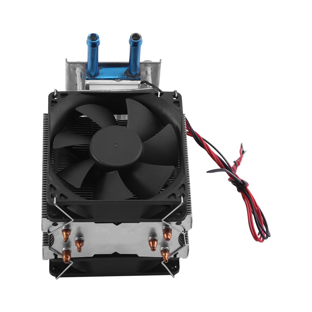 12V Semiconductor Refrigeration Cooler Thermoelectric Peltier Water Cooling System DIY Device with Fan