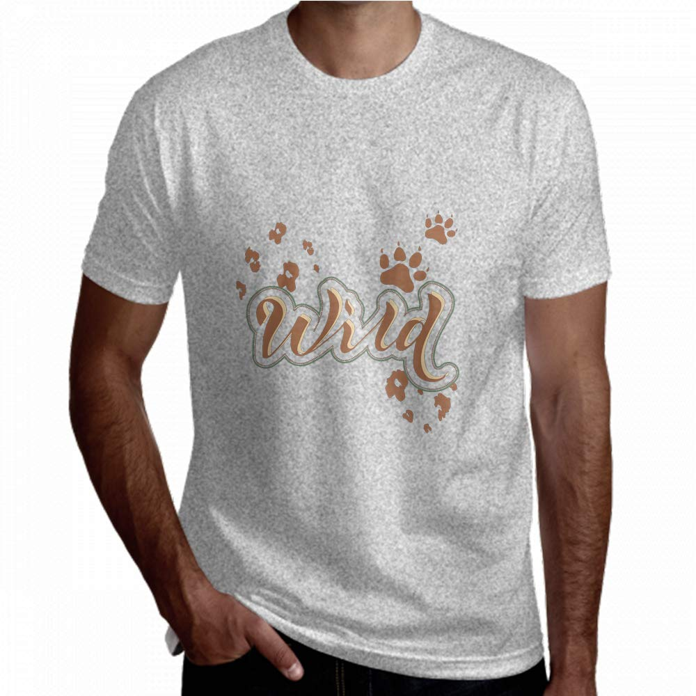 T-Shirt Wild Letter Cat Paw Print Track Short Sleeve Men Tees
