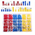 PXMY 480 Pcs Insulated Wire Terminals Crimp Connectors Kit Assortment Automotive Electrical Wire Connectors Spade Set