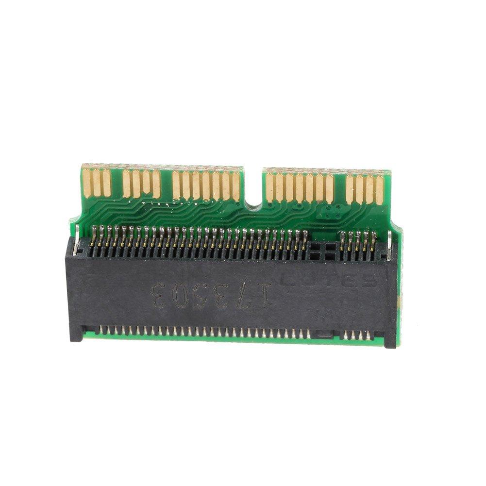 Rokoo PCI-E x4 M.2 NGFF auf SSD Adapterkarte f/ür Apple MacBook Air A1465 A1466 A1398 A1502