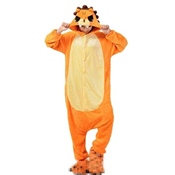 Kenmont Unisexo Adulto Pijama Juguetes y Juegos Traje Cosplay Animal Pyjamas Unicornio (Medium, León