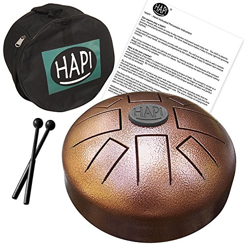 HAPI HDMINIDAKE Tongue Drum Mini Steel Percussion Instrument - D Akebono with FREE padded travel bag
