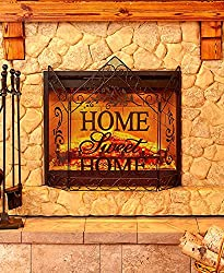 The Lakeside Collection Home Sweet Home Decorative Fireplace Screen from The Lakeside Collection