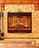 The Lakeside Collection Home Sweet Home Decorative Fireplace Screen