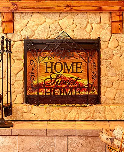 The Lakeside Collection Home Sweet Home Decorative Fireplace Screen by The Lakeside Collection