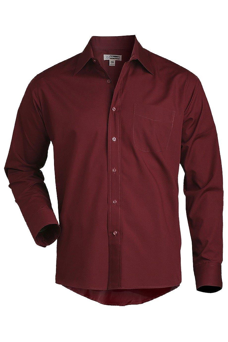 Edwards Mens Long Sleeve Value Broadcloth Shirt