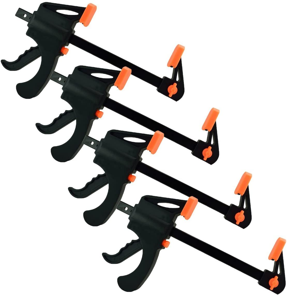 Black Duck Brand Ratchet Bar 6 Clamp Converts to 12 Spreader 2 Pack Ratchet Bar Clamps