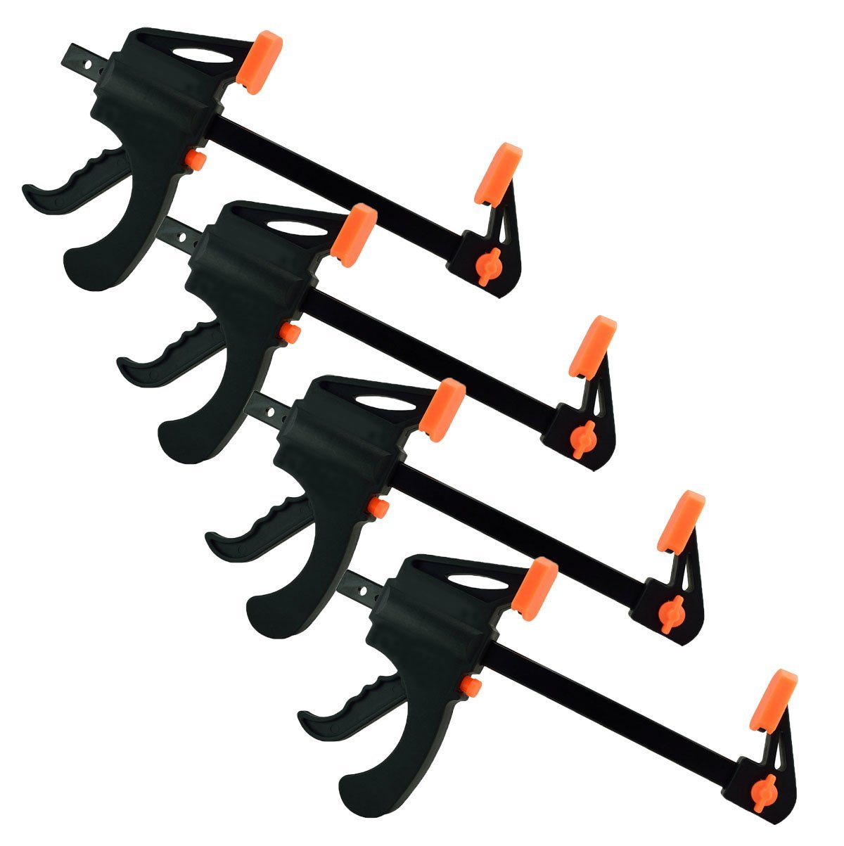 Black Duck Brand Ratchet Bar 6'' Clamp, Converts to 12'' Spreader (4 Pack Ratchet Bar Clamps) by Black Duck Brand