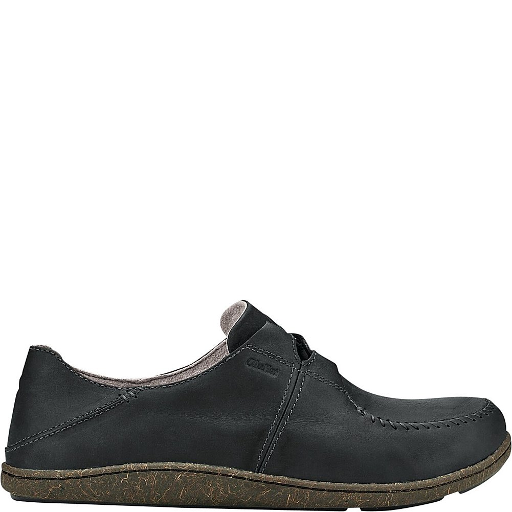 OluKai Honua Leather - Mens Comfort schuhe schuhe schuhe schwarz schwarz - 9.5 b7e770