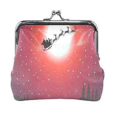Amazon.com: Monedero de Papá Noel con diseño de Papá Noel ...