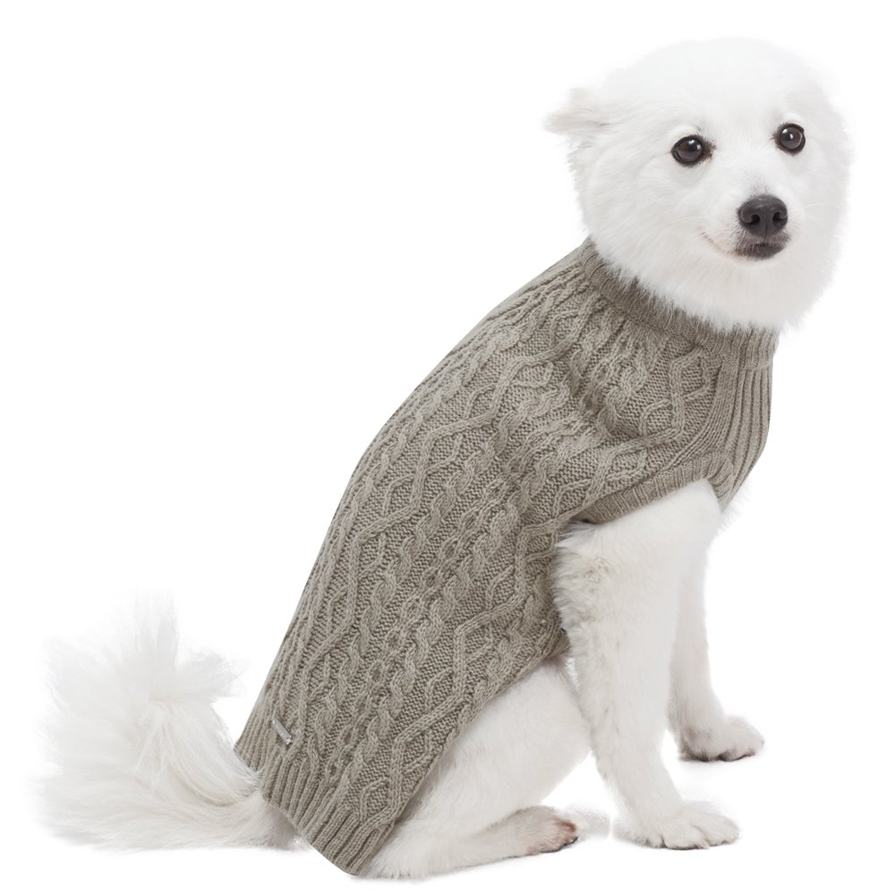 Blueberry Pet Classic Cable Knit Dog Sweater