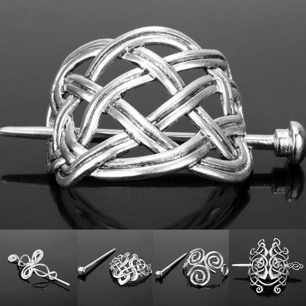 gro/ße Knoten Damen Haarnadel Haarspange f/ür Festival Kost/üm und Geschenk #0087 Wie abgebildet Krone Haarnadel keltisches Retro-Design klassische Metalllegierung