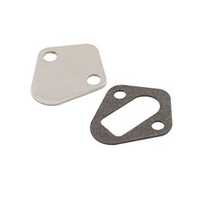 Mr. Gasket Fuel Pump Block Off Plate, Bb Chev: Automotive