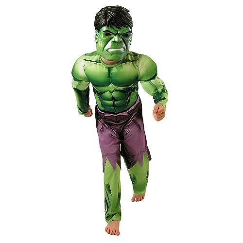 Rubie's-déguisement officiel - Marvel-Deguisement luxe Hulk Avengers garcon, Violet- Taille L 7-8 ans- CS889213/L