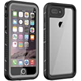 iPhone 7 Plus & 8 Plus Waterproof Case With Built-In Clear Screen Protector, Drop Resistant Full Sealed Underwater Protective Cover, Dirtproof Snowproof Shockproof for men women boys and girls