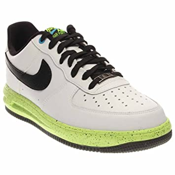 quite nice f127c 53bee Nike Mens Lunar Force 1 Basketball Shoes White Wolf Grey Green 9 D(