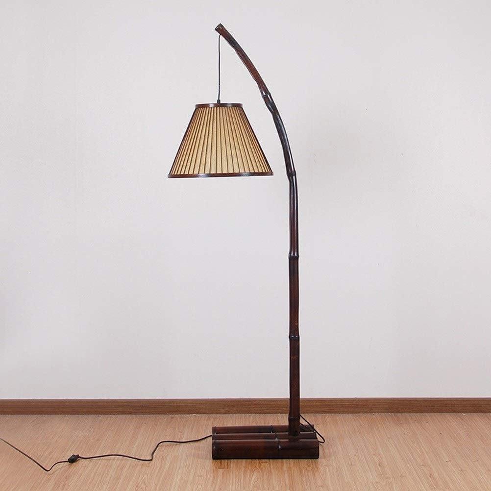 Stehlampe 0720LDD - Lámpara de pie (bambú, Hecha a Mano): Amazon ...