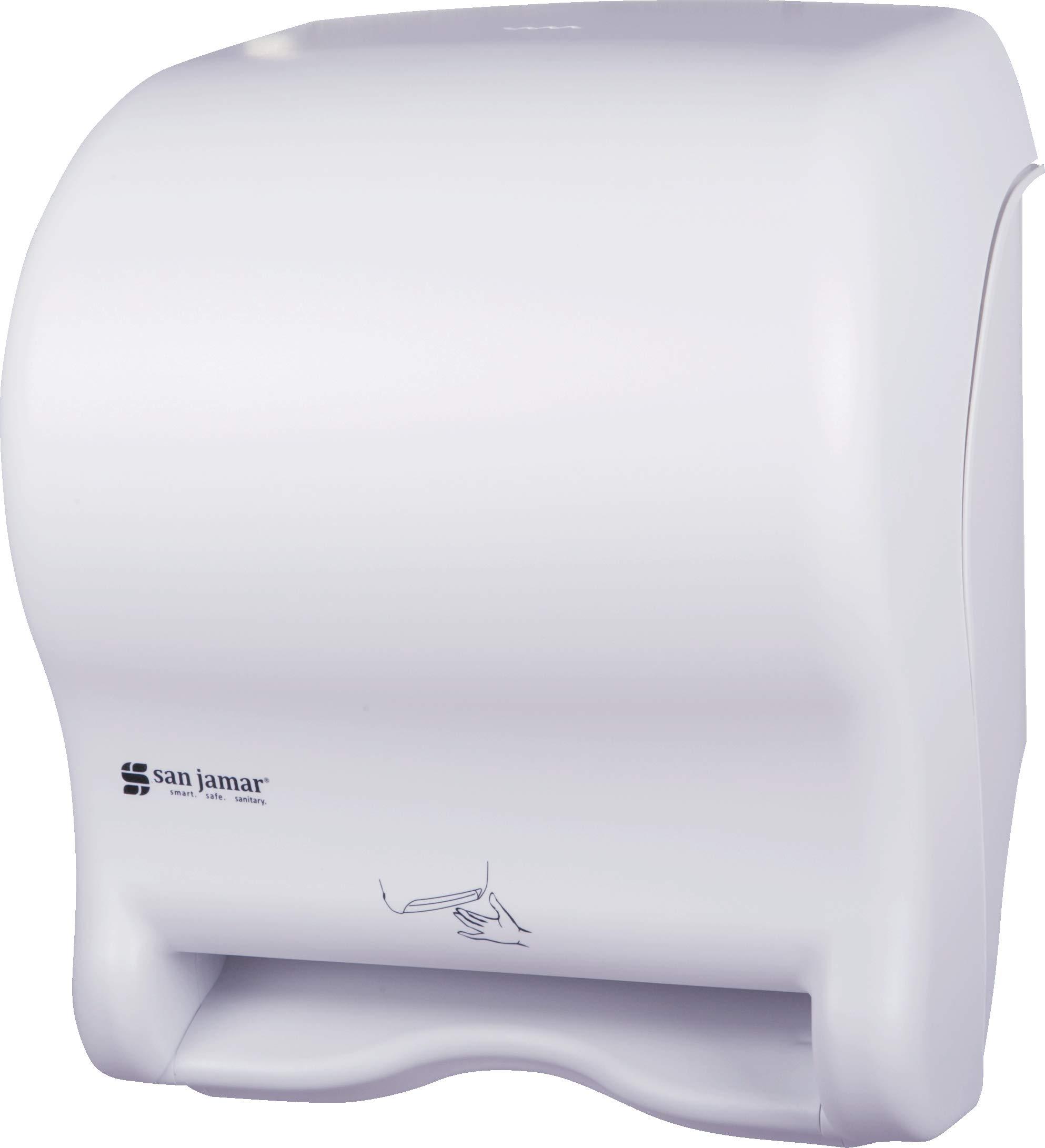 San Jamar T8400WH Smart Essence Classic Hands Free Paper Towel Dispenser, White