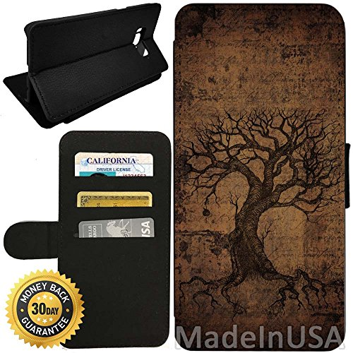 - Flip Wallet Case for Galaxy S8 (Vintage Ancient Tree of Life) with Adjustable Stand and 3 Card Holders | Shock Protection | Lightweight | by Innosub